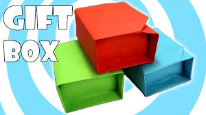 Paper Origami Box - diy paper origami gift box with lid