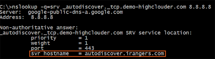 Dns Nslookup How To Find by Autodiscover How To Check Srv Record Using Nslookup Highclouder
