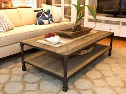 modern living room coffee tables brown orange floral pattern