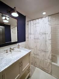Tropical Bathroom Decor by Bathroom Design Inspired Nautical Shower Curtain In Bathroom