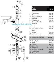 gerber kitchen faucet gerber 40 480 kitchen faucet parts