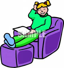 Clipart Armchair Smiling Sitting In A Chair Reading Clipart Picture