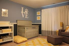 a sophisticated mixed pattern dog nursery project nursery