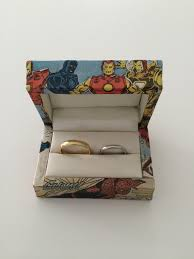 the marvels wedding band wedding ring box by funfonts on etsy weddings