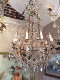 French Chandelier Antique Large Antique French Chandelier With Macaroni Beads