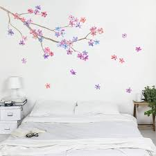no headboard no problem feioi blossom branch wall sticker by oakdene designs 29 00 on notonthehighstreet com