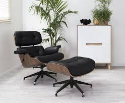 Ottoman Chair Chair White Ash Lounge Chair Ottoman Hivemodern Com Eames Replica