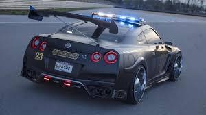 Nissan Gtr Back - nissan create r35 gt r u0027copzilla u0027 police car concept for new york