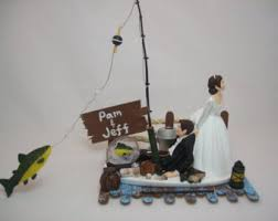 fishing wedding cake toppers fishing cake topper etsy