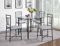 kitchen sets furniture dorel home furnishings piece glass top metal dining set furniture
