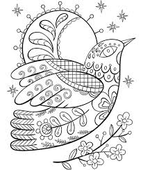 ornate dove coloring page crayola com