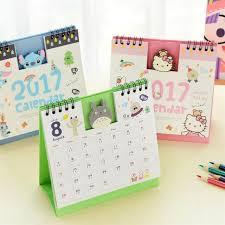 mini desk calendar 2017 new 2018 lovely diy animals mini desktop paper calendars table