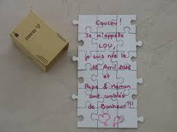 faire part mariage puzzle faire part de naissance puzzle idées cadeaux