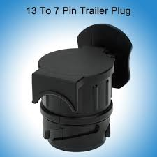 13 to 7 pin trailer plug frosted trailer wiring connector 12v
