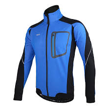 winter bicycle jacket arsuxeo sports cycling clothes bike bicycle fleece jersey long