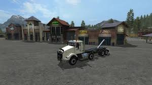 antique kenworth trucks kenworth t800 twinsteer hooklift v1 trucks farming simulator