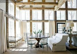 Dining Chairs Atlanta Rustoc Wood Beams Cottage Dining Room Atlanta Homes Lifestyles