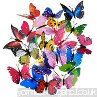 miniature ornaments motina 28pcs butterfly garden ornaments
