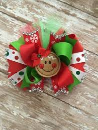 christmas hair bows christmas hair bow gingerbread hair bow gingerbread girl hair