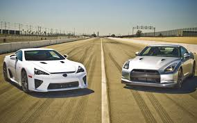 lexus lfa gt 2012 lexus lfa vs 2010 nissan gt r comparison motor trend