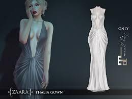Draped Gown Second Life Marketplace Zaara Thalia Draped Gown Maitreya