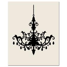 chandelier 8x10 print modern chandelier silhouette wall zoom