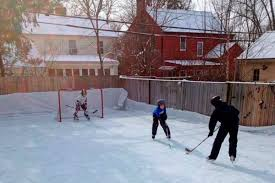 hockey loving canadians build elaborate backyard rinks barriere