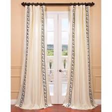 Faux Silk Embroidered Curtains Awesome Fancy Ivory Drapes 33 For Home Decorating Ideas With Ivory