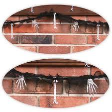 Halloween Decor Uk 7ft Hanging Plastic Bones Banner Garland Metallic Body Parts
