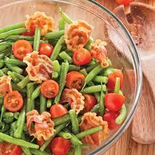 cuisiner les haricots verts salade de haricots verts et pancetta recettes cuisine et