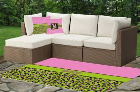 Lime Green Outdoor Rug Pink U0026 Lime Green Leopard Outdoor Pillow Personalized Baby N