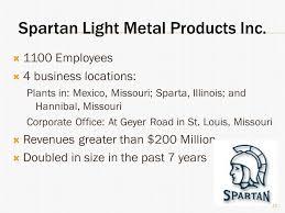 spartan light metal products alexandra bleitz matthew clabaugh mingjie li choong kwan