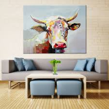 aliexpress com buy large canvas wall art cute animal colorful