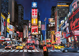 New York scenery images Skyscrapers times square cityscape skyscrapers painting jpg