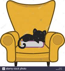 Clipart Armchair Sleeping Cat Armchair Stock Photos U0026 Sleeping Cat Armchair Stock