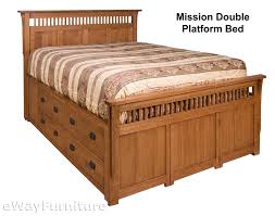 Oak Platform Bed Rift And Quarter Sawn Oak Mission Platform Bed Bedroom Set