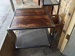 Wood And Metal End Table 305 Best Metal U0026 Wood Furniture Images On Pinterest Industrial