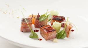 rezepte sterneküche sous vide cured belly bacon with smoked eel fusionchef by julabo