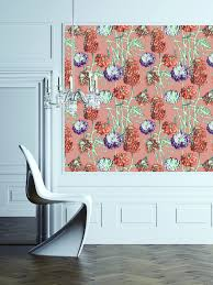 tempaper wallpaper wall decor charming peonies self adhesive tempaper wallpaper for