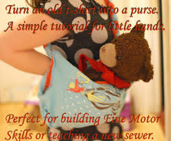 turn a t shirt into a purse simple craft for kids more than a
