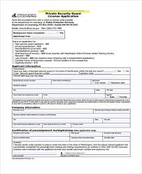 10 security application form samples free samples examples