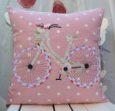 bicycle pillow bicycle cushion cover cath kidston pink dot