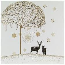 town sleigh christmas card design by jane crowther for bug art