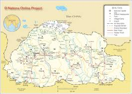 Map Of China And India by Map Of Bhutan Nations Online Project
