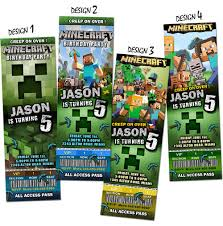 ticket style birthday party invitations kids birthday parties