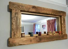 barnwood mirror frame mirrors wood framed bathroom stained barn