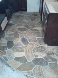 porcelain tile with mixed look of wood stone and concrete from