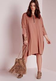 plus size oversized t shirt dress pink missguided