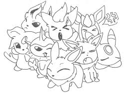 pokemon coloring pages eevee evolutions learn language