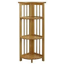 Fold Up Bookcase Amazon Com Casual Home 4 Shelf Corner Folding Bookcase White
